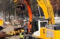 Grondverzetmachine met hijsfunctie W04-05
